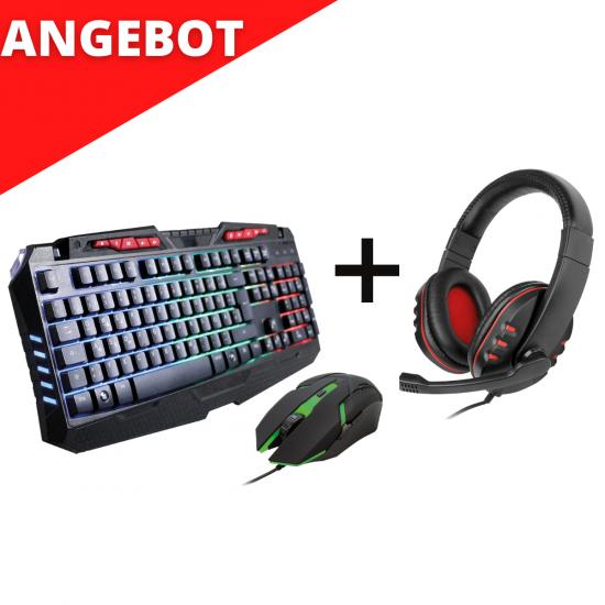 Gaming-Set Tastatur inkl. Maus + Headset