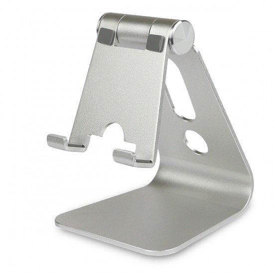 """Universal Aluminium Ständer """"Holdit"""" silber für Tablet & Handy, Betrachtungswinkel einstellbar"""