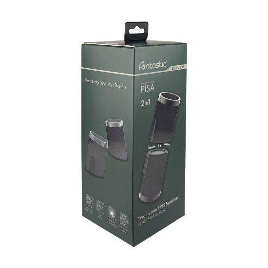 Fontastic Exclusive 2in1 TWS Lautsprecher Pisa, sw 360° Raumklang, Split-Design, 20Watt, IPX6
