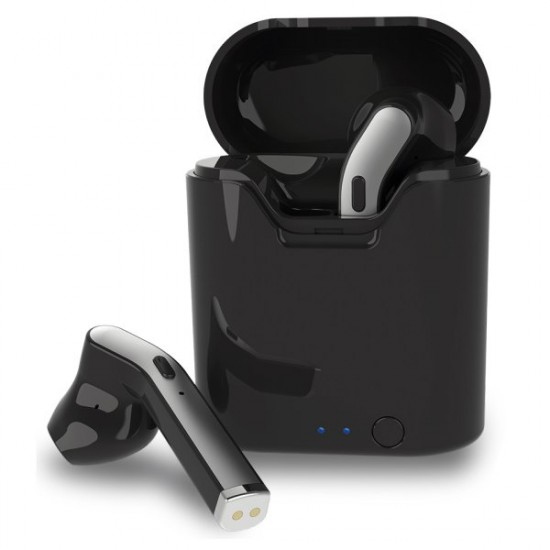 True Wireless Stereo Headset mit Lade-Etui Auto-Pairing, Musik-Steuerung, Dima, sw