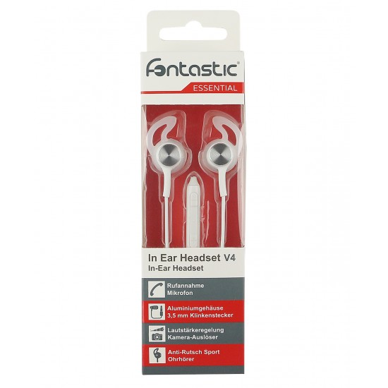 Essential In Ear St. Headset V4 white / silver