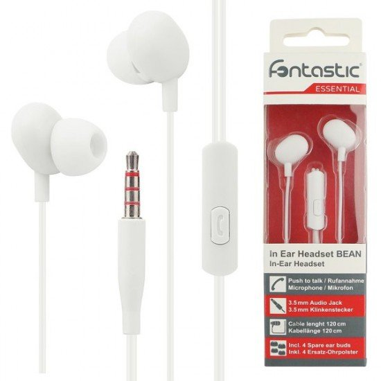 Essential In Ear Stereo Headset Beans