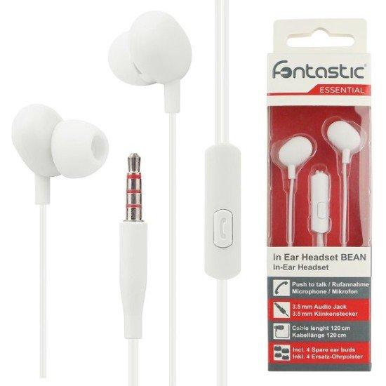 Essential In-Ear Stereo-Headset Beans Rufannahme-Taste, Mikrofon, Soft White