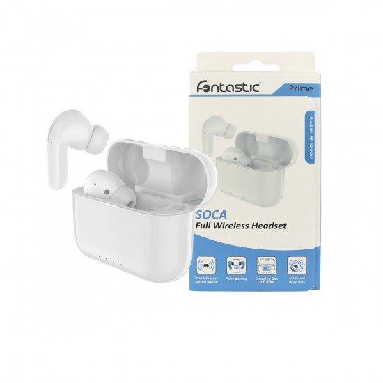 True Wireless Stereo Kopfhörer Soca ws Musik und Telefonieren, inkl. tragbare Ladestation