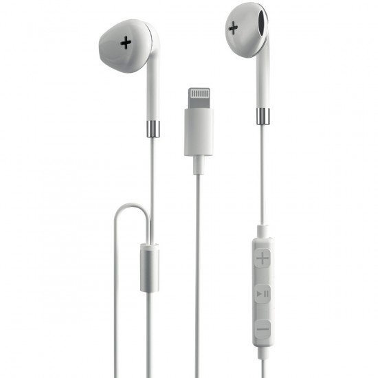 In-Ear Lightning Kopfhörer, AP01, MFi Zertifiziert 3-Tasten-Fernbedienung, 1,2M Kabel, Ergonomisch ws
