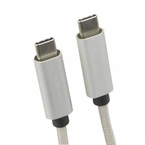 Data Cable Elox USB Type-C > Type-C 2.0 1m Silver