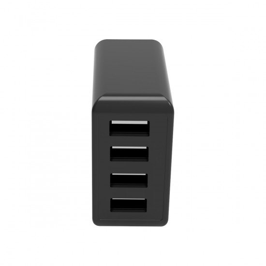 Netzteil Quad Plus 4x USB-A 4.8A / 24Watt schwarz mit integriertem Smart IC