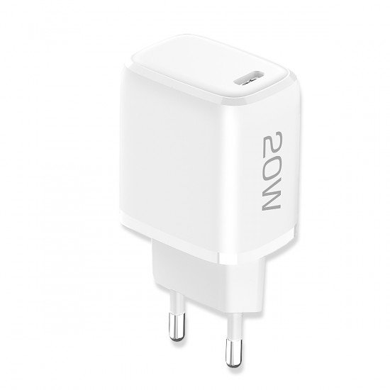 AC Charger Nivo USB Type-C PD 20W white Power Delivery compatible with Apple iPhone 12