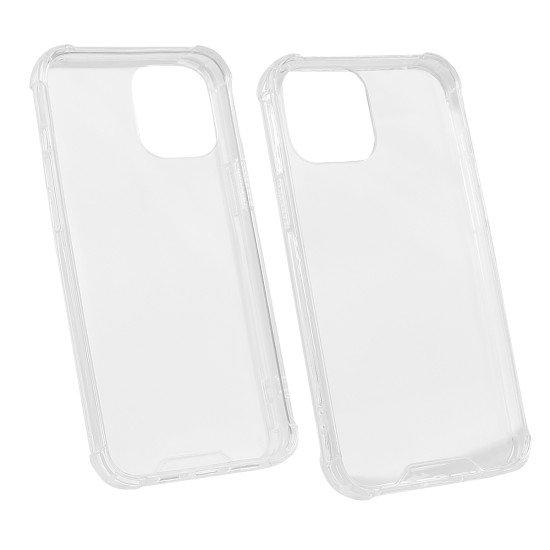 Hybridcover Clear mit Kantenschutz, TPU + PC komp. mit Apple iPhone 12 Pro Max - 6,7