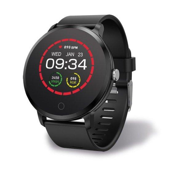 Smarte Armbanduhr FontaFit 345CH Cono sw Zifferbaltt personalisierbar, Nachrichten, IP67