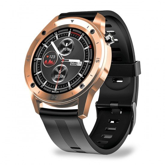 Smarte Armbanduhr FontaFit 500CH Teso rosegold Metallgehäuse, Ersatzarmband, Sport, Puls, IP67