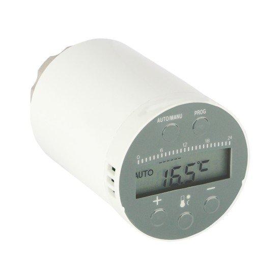 Funk-Heizkörperthermostat weiß LCD-Display, WLAN Gateway erforderlich